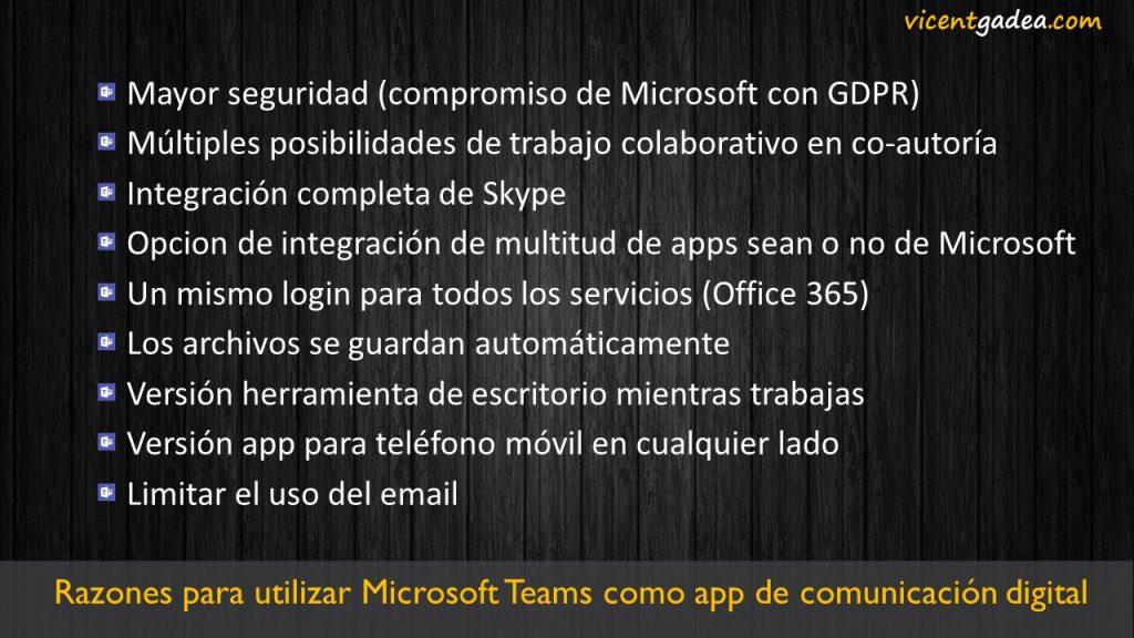 Razones para utilizar Microsoft Teams